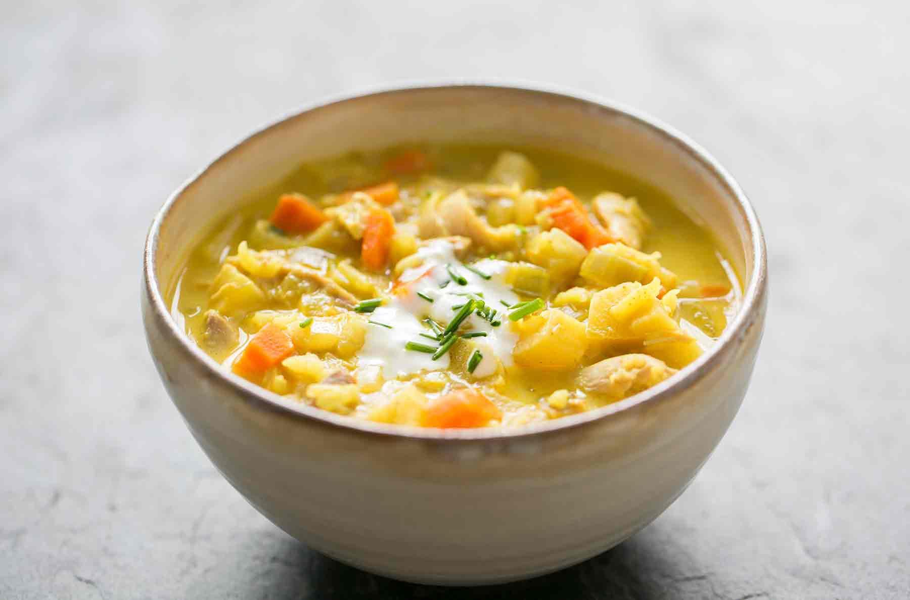 Mulligatawny Curried Turkey Soup