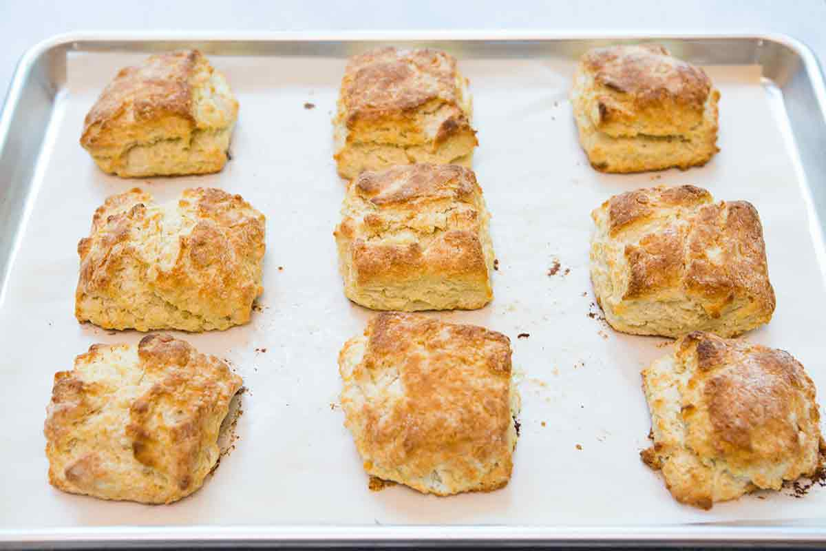 homemade biscuits for strawberry shortcake