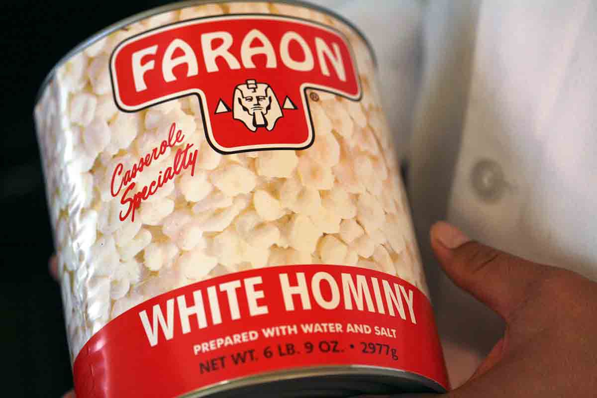 large can of hominy for pozole