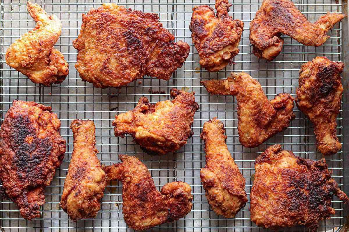 Spicy Deep Fried Chicken Recipe drain the chicken