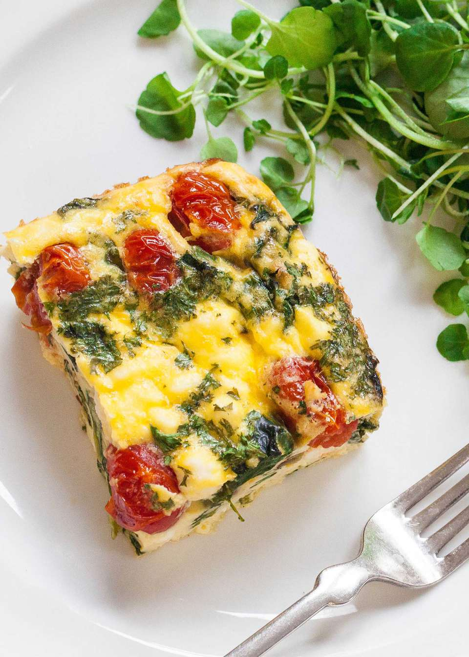 Frittata with Spinach, Tomatoes, and Feta