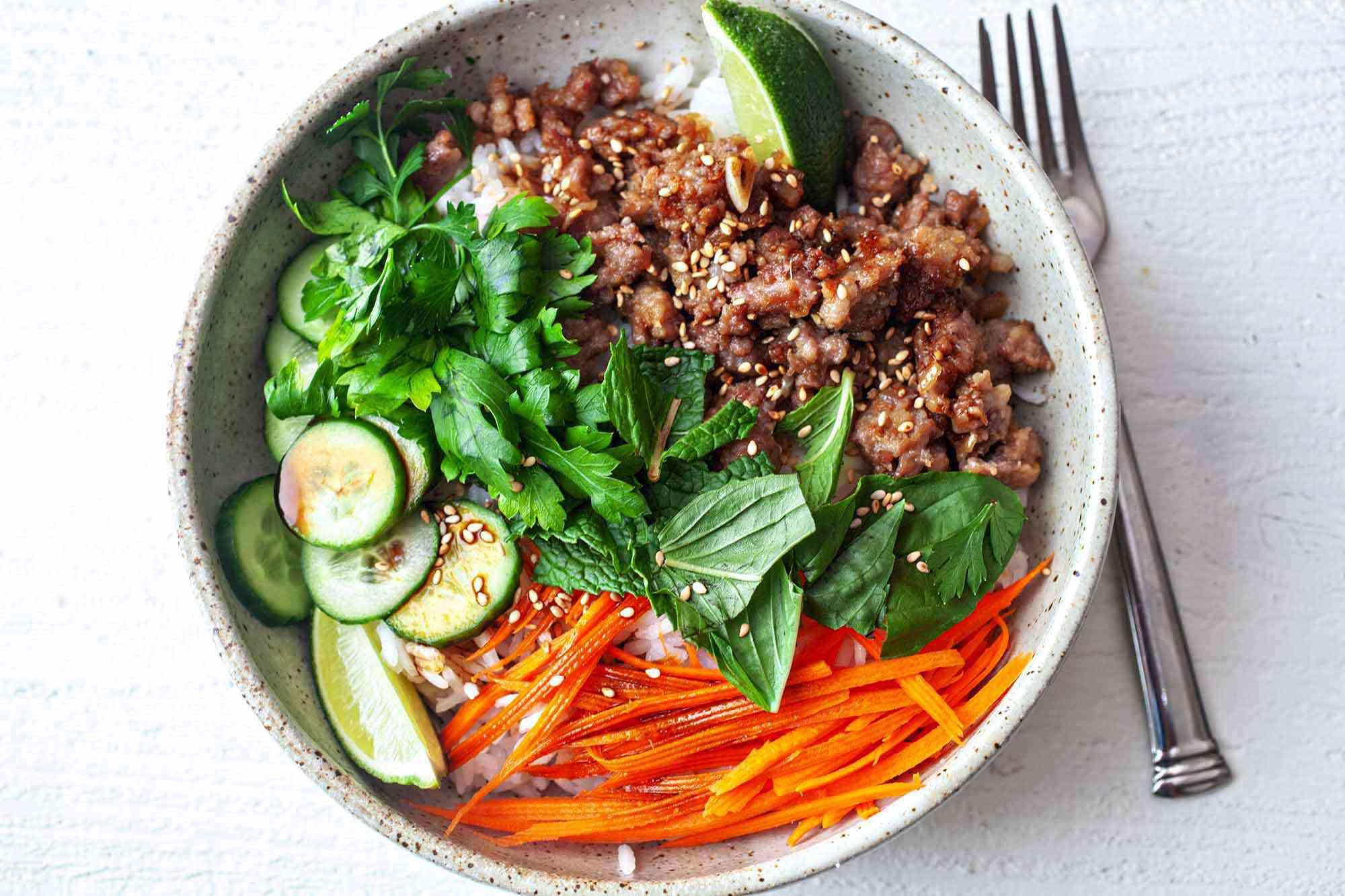 Ginger Pork Rice Bowls