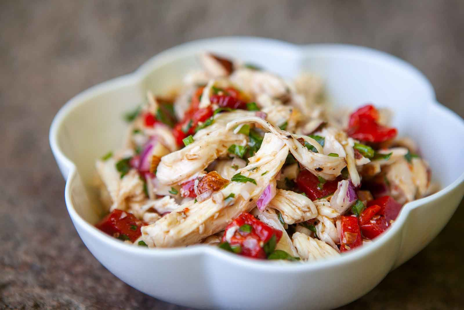 Chicken Salad with Roasted Bell Peppers