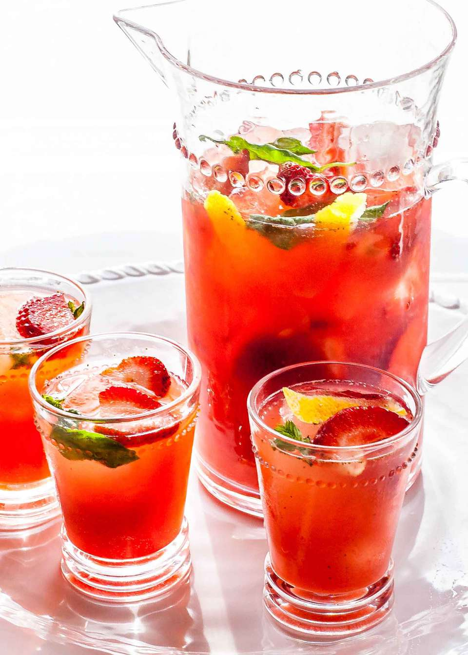Pitcher Sangria with Strawberries