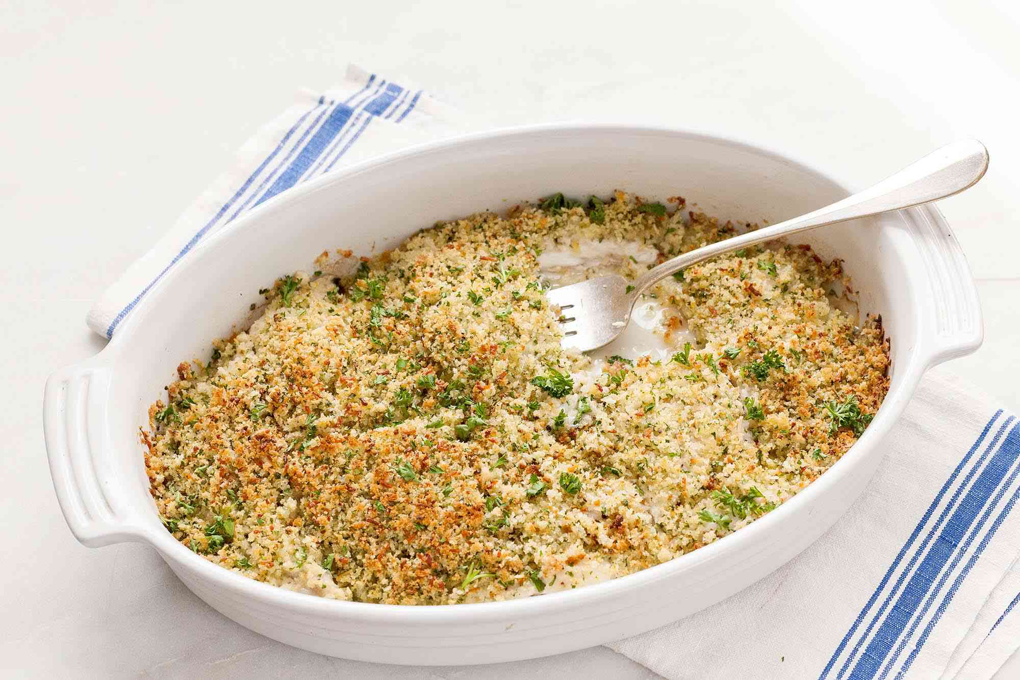 Baked Fish with Parmesan Breadcrumbs