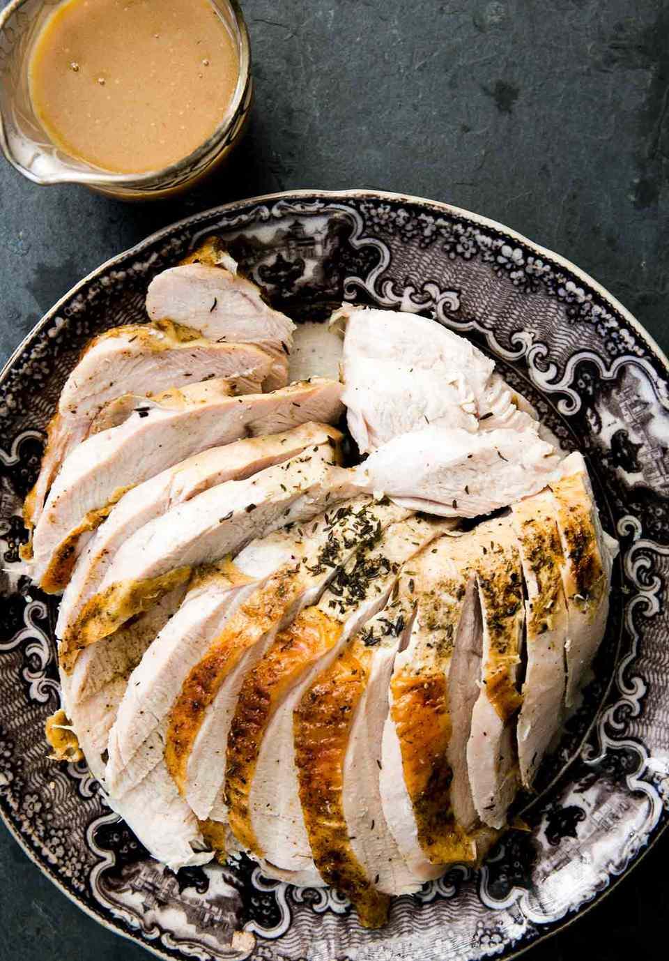Roast Turkey Breast with Garlic Gravy