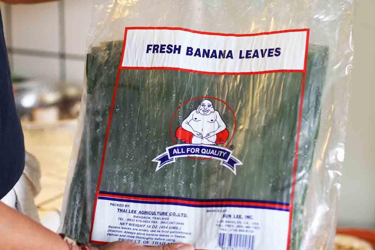 package of banana leaves
