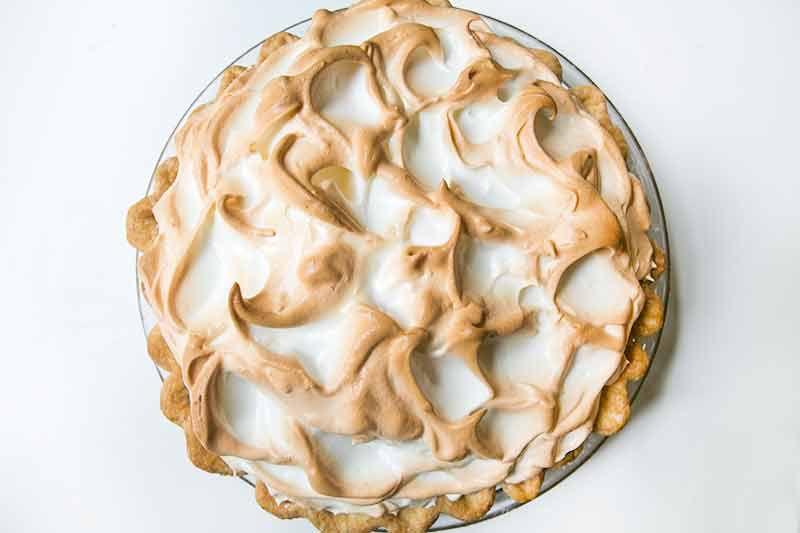 Perfectly baked lemon meringue pie