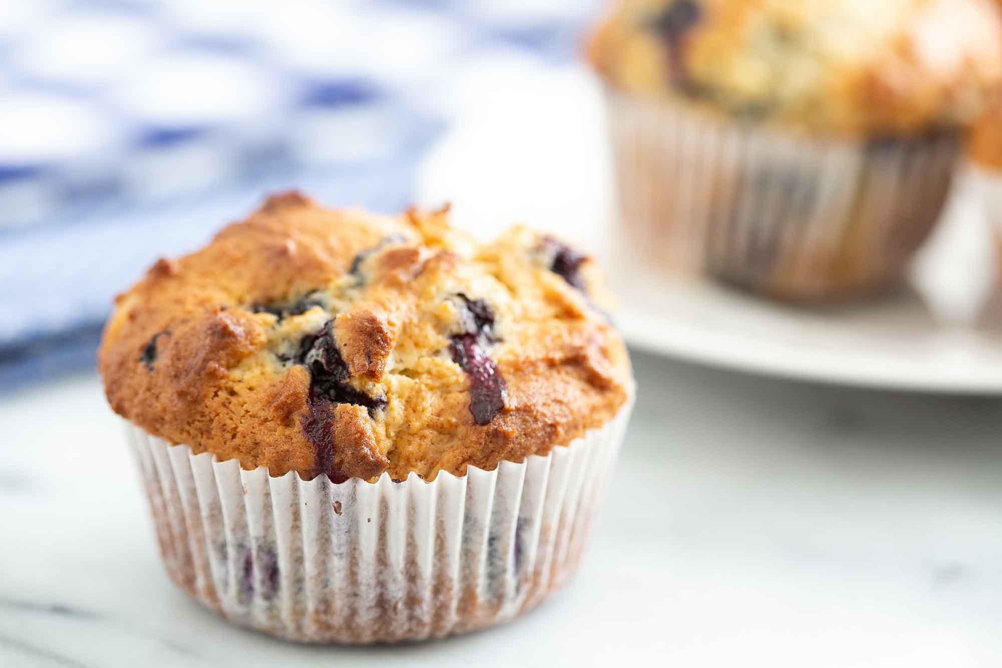 Easy Blueberry Muffins ready to eat