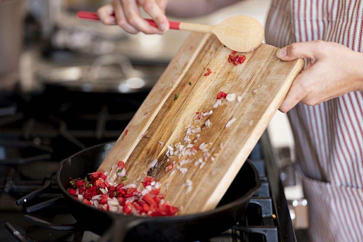 Summer lasagna recipe add shallots and chard stems