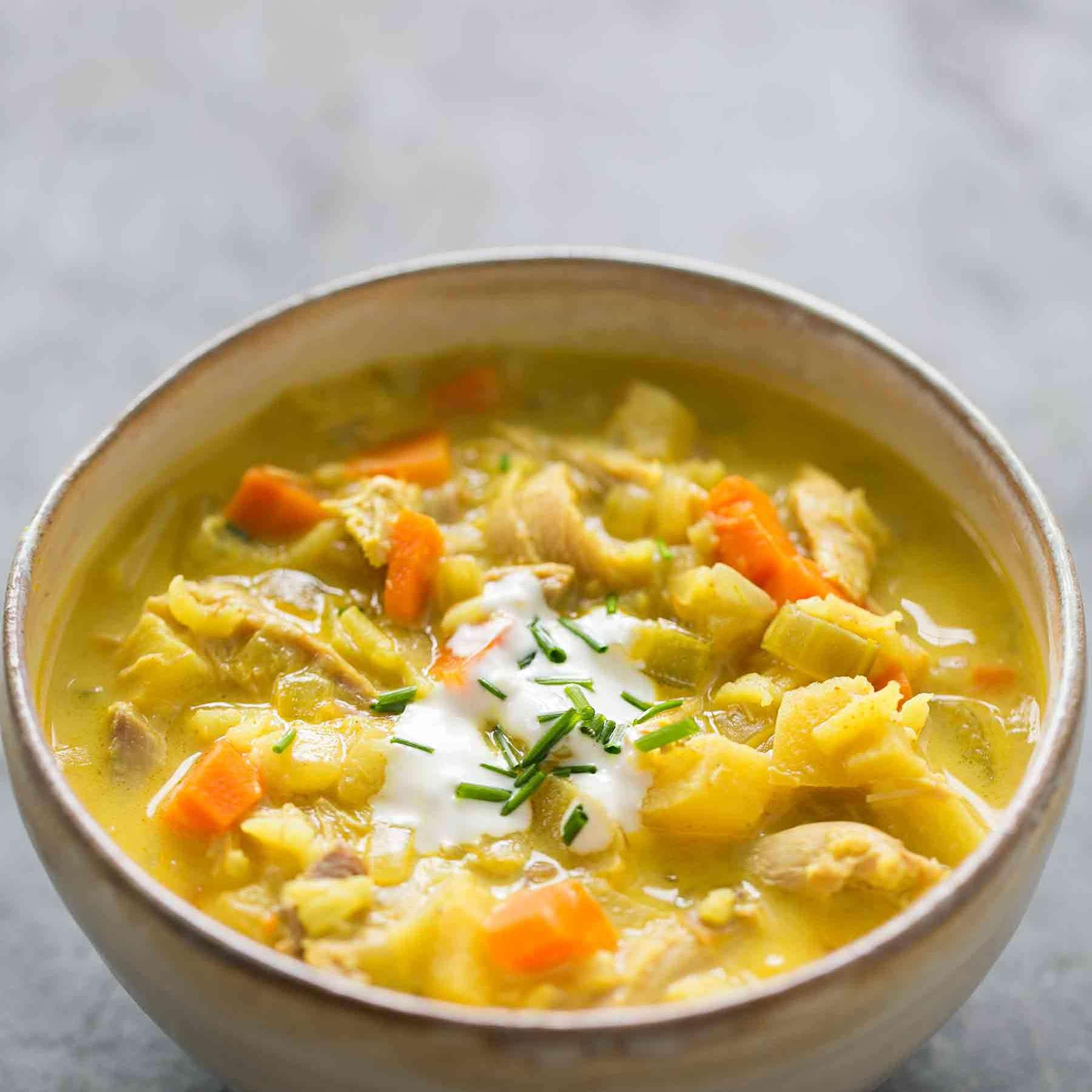 Mulligatawny Turkey Soup
