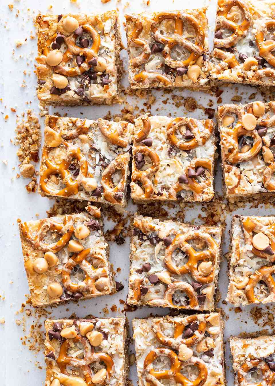 Seven Layer Bars with Peanut Butter and Pretzels