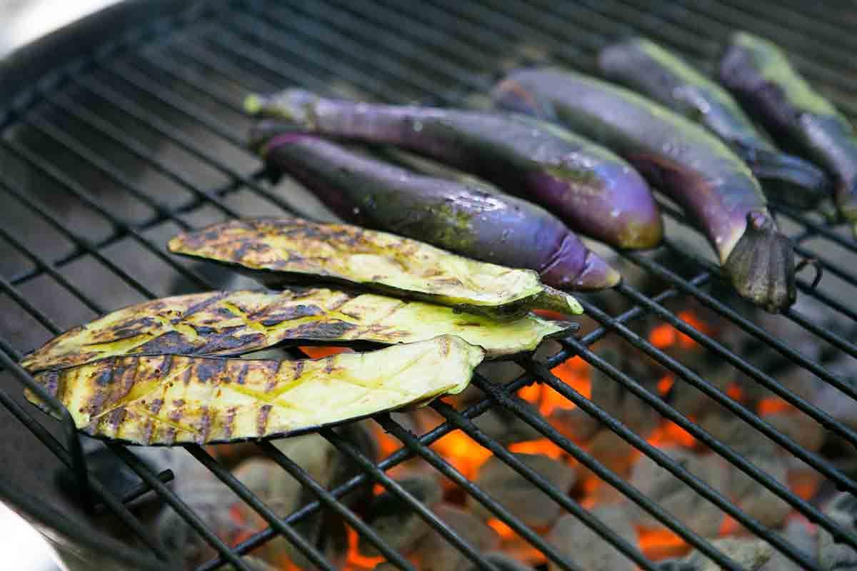 grill Japanese eggplant