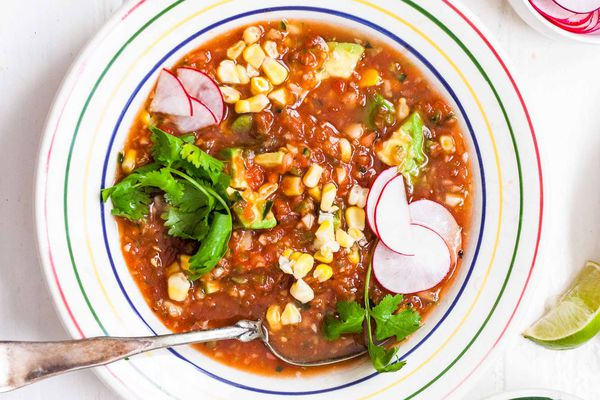 Gazpacho Soup Recipe with Avocado