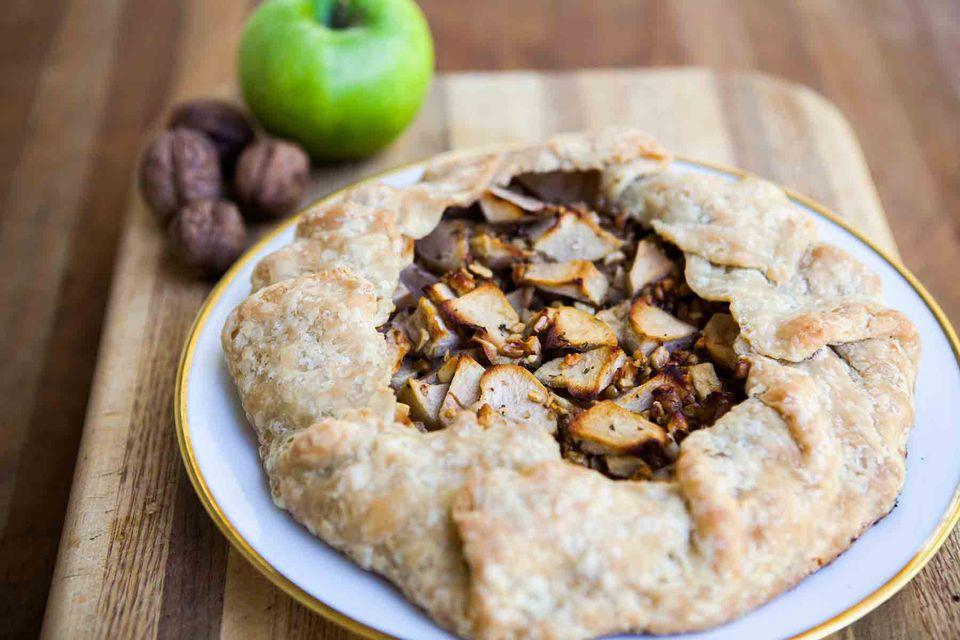 Apple Walnut Gorgonzola Rustic Tart