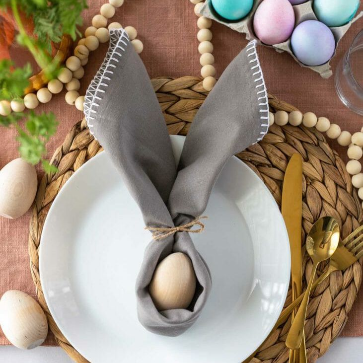 Bunny ear napkins for easter