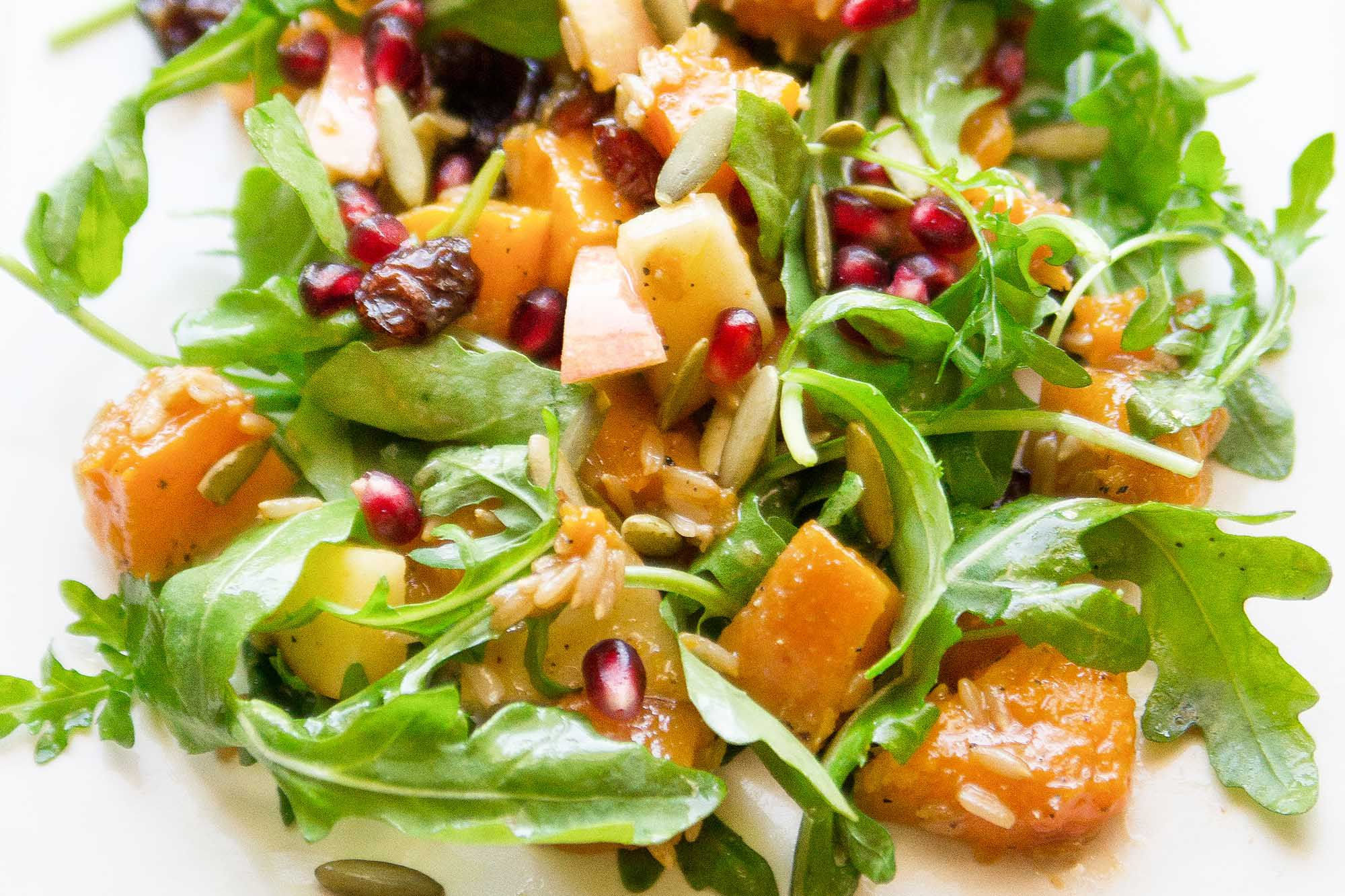 Harvest Salad with Roasted Butternut Squash