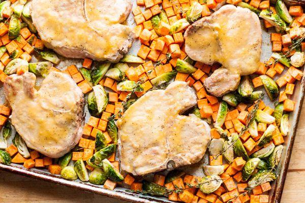 Honey-Mustard Sheet Pan Pork Chops