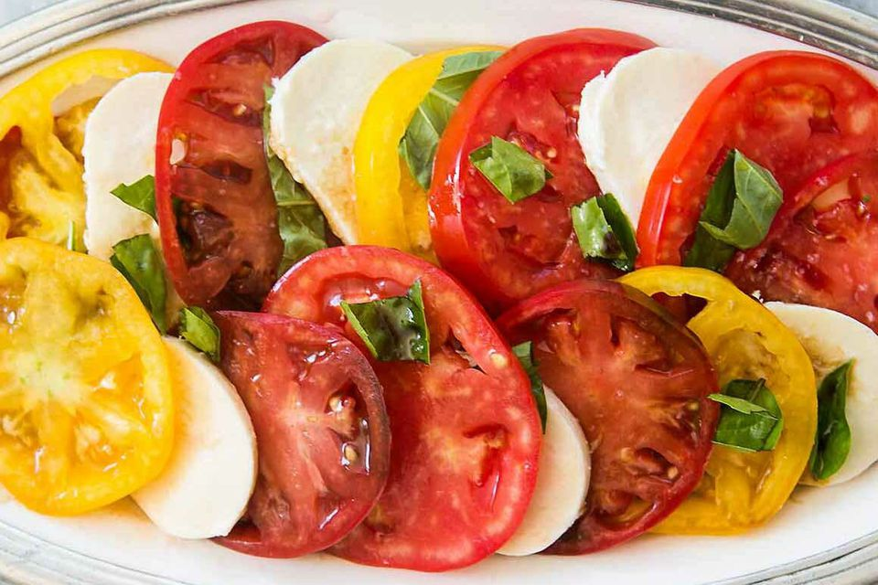 Heirloom Tomatoes Caprese