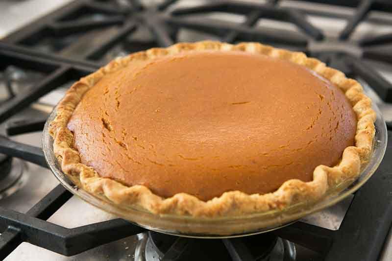 Baked Pumpkin Pie From Scratch