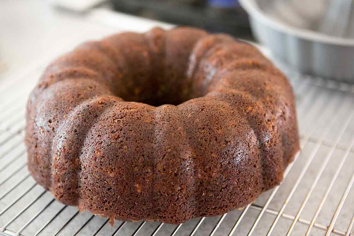 Unmold Chocolate Zucchini Cake