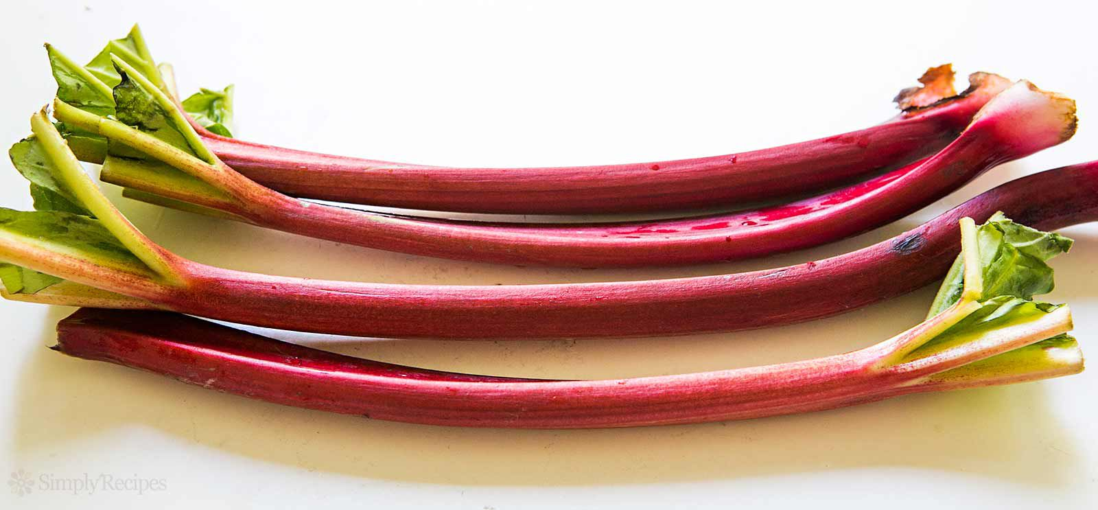 raw rhubarb for strawberry rhubarb pie, don't use the leaves, they're toxic!