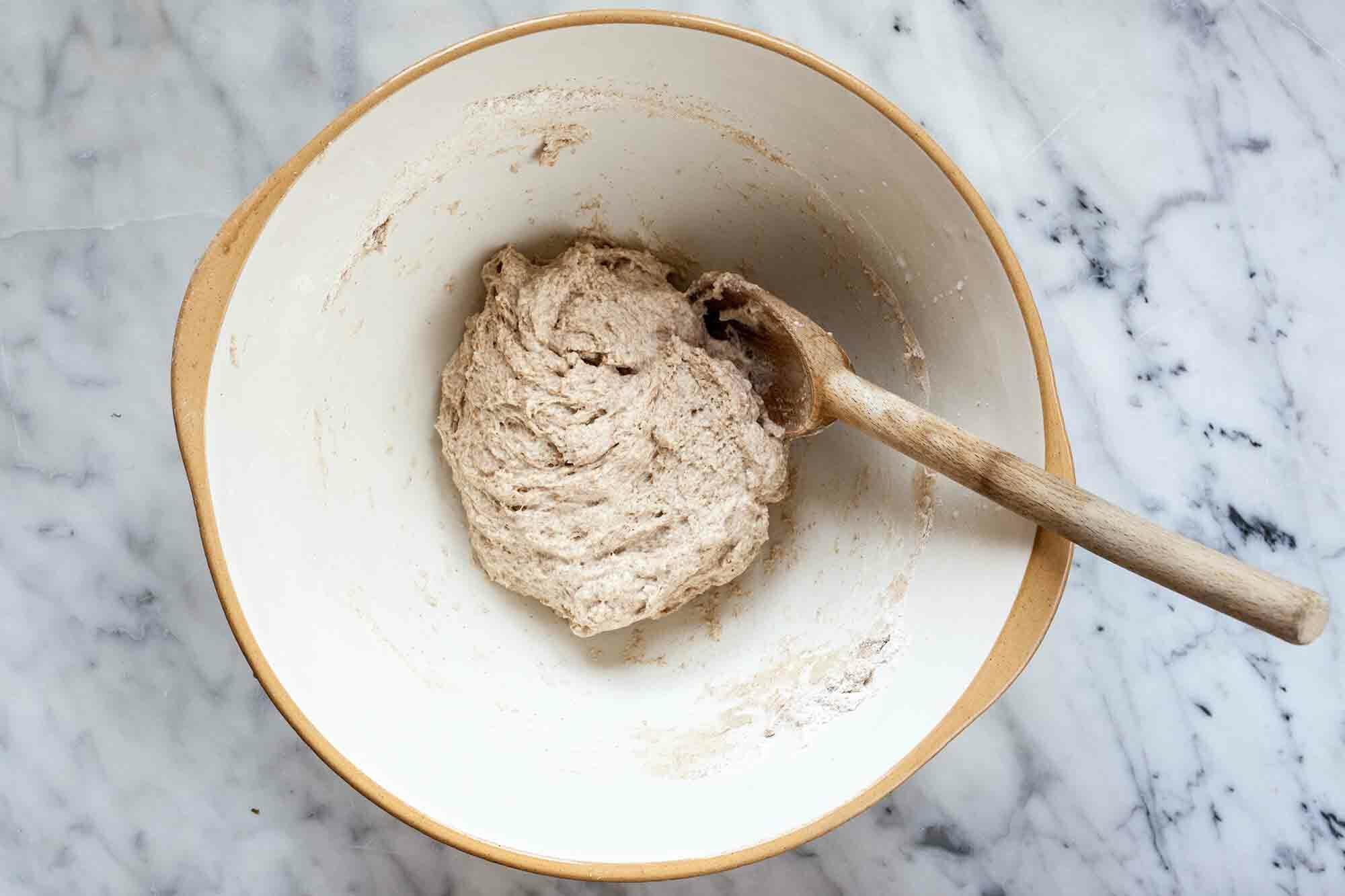 Mixed No-Knead Dough