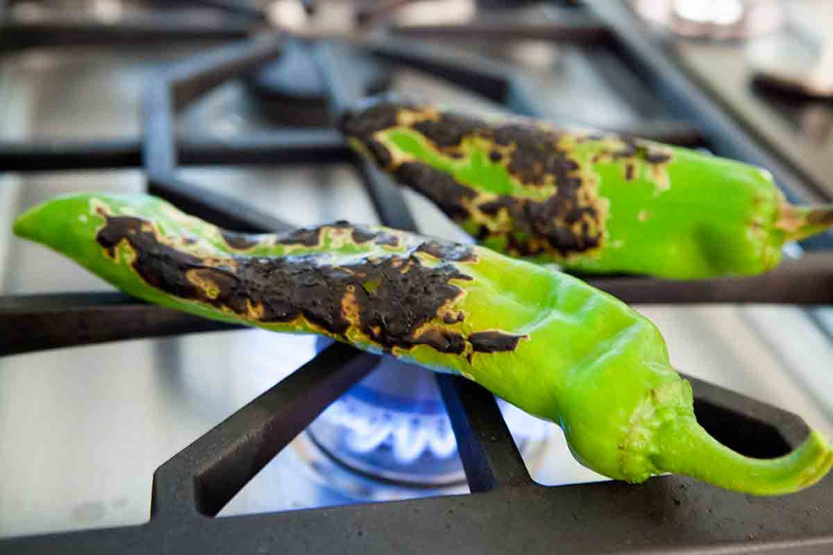 salsa recipe for canning calls for roasted chilis