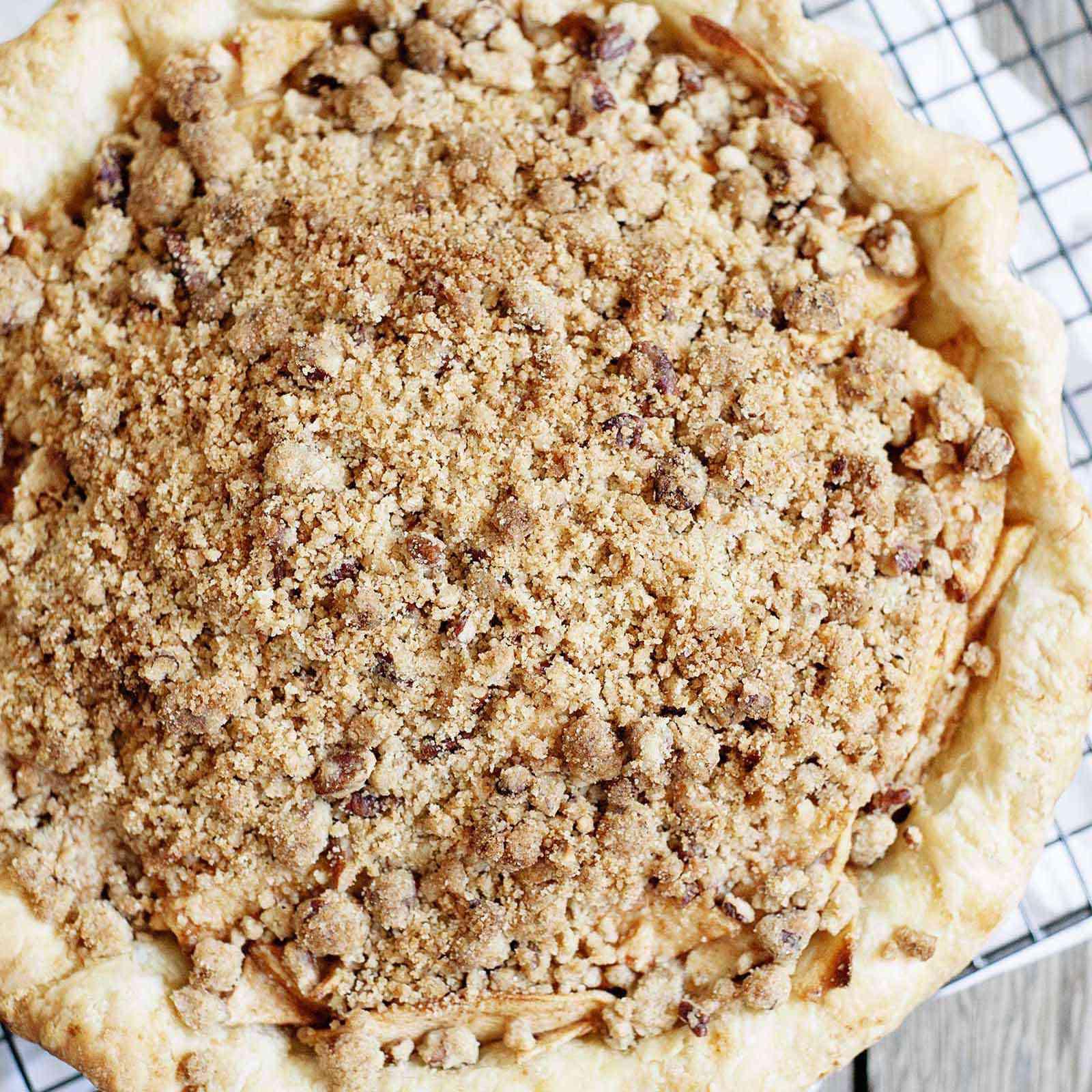 Whole dutch apple pie.
