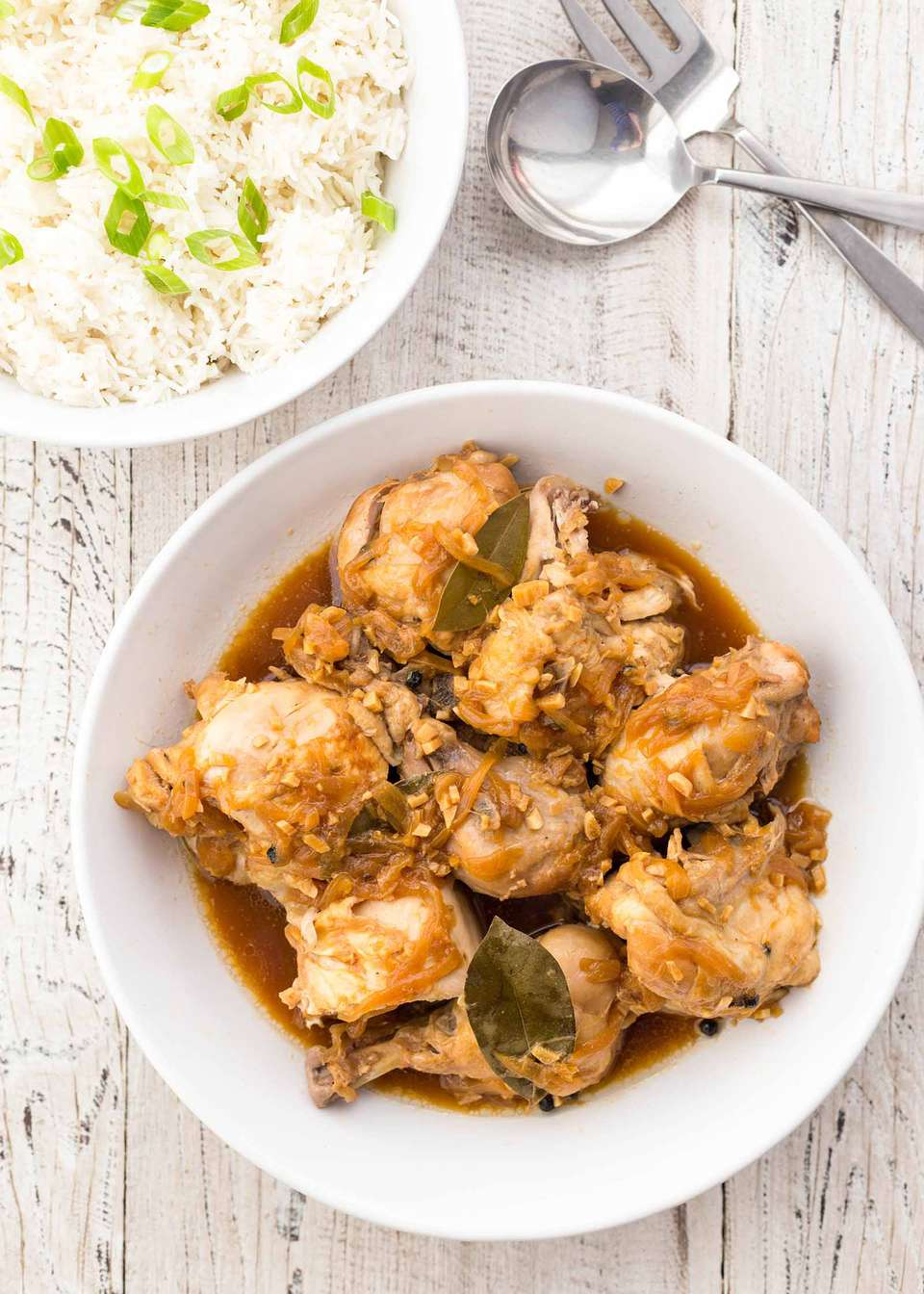 Pressure Cooker Chicken Adobo with Rice
