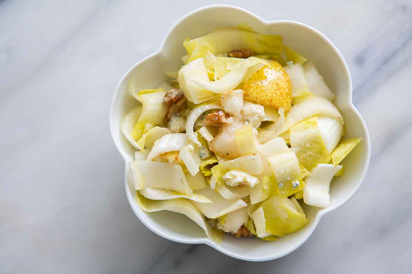 Endive Salad with Walnuts Pear Gorgonzola