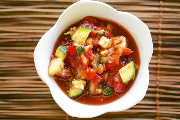Cold Tomato Summer Vegetable Soup