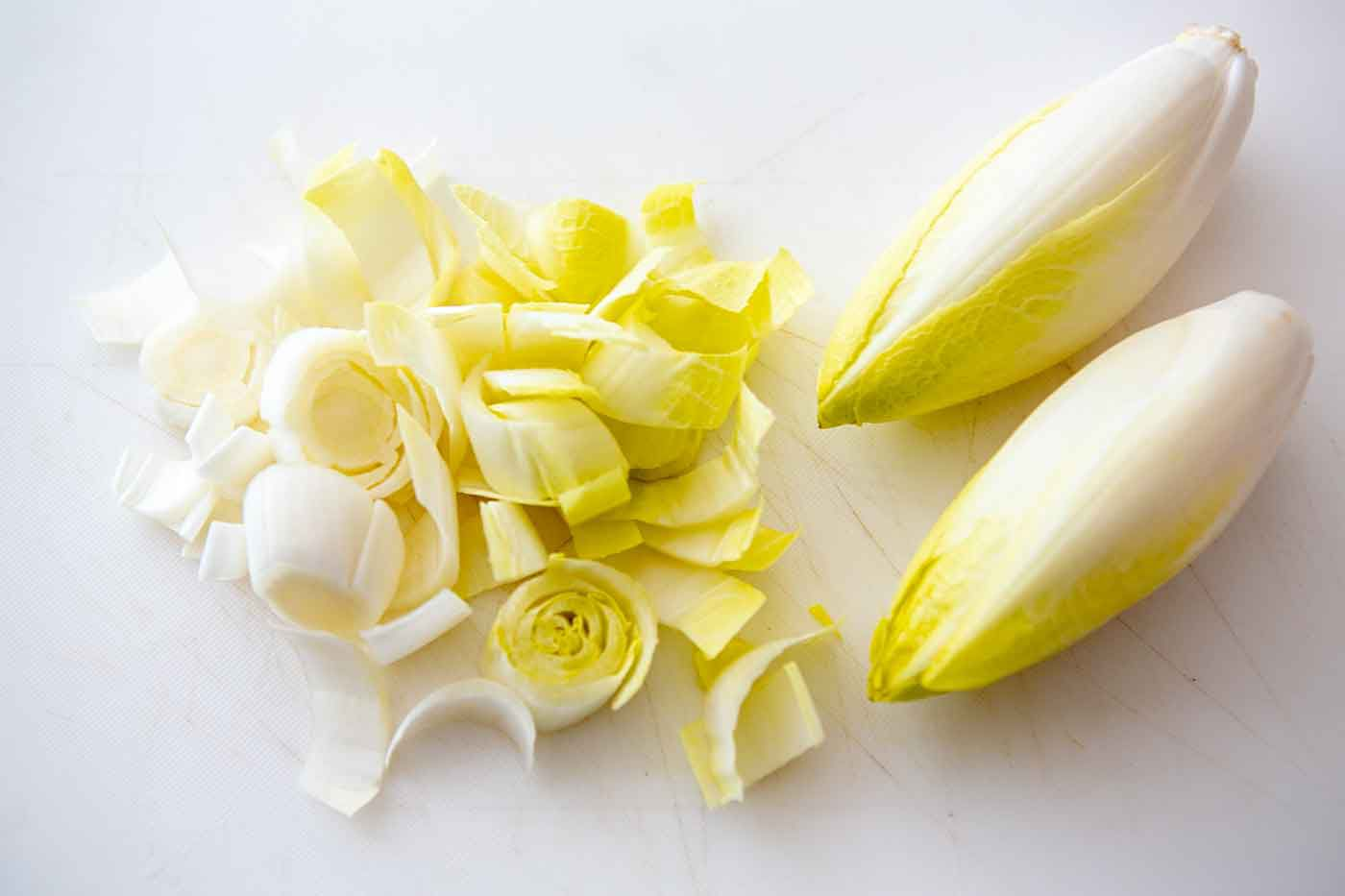 chopped and whole endive