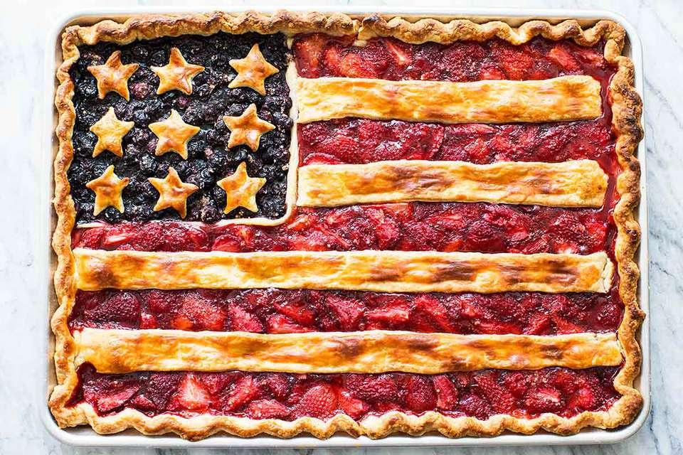 American Flag Slab Pie