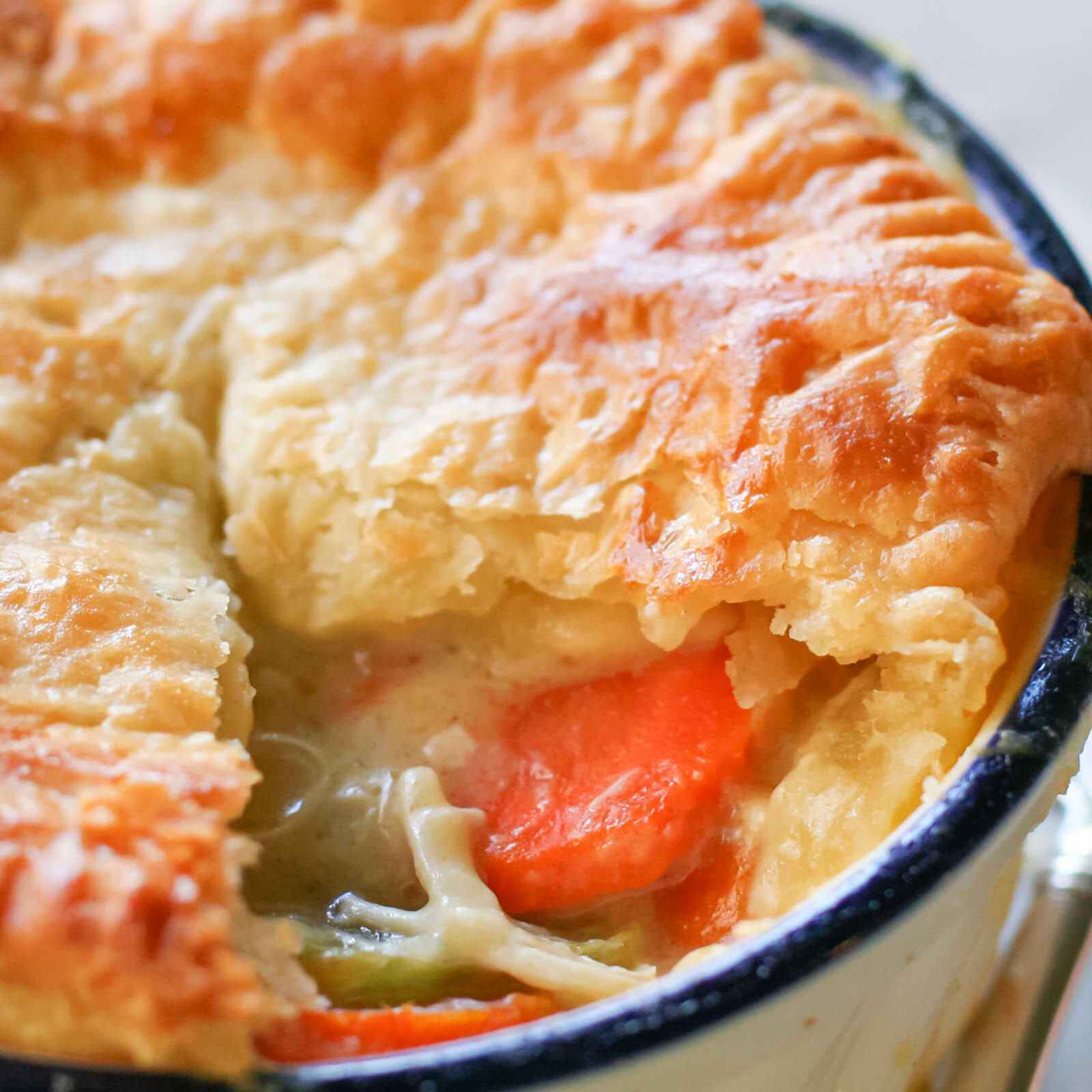 Homemade Chicken Pot Pie Made From Scratch