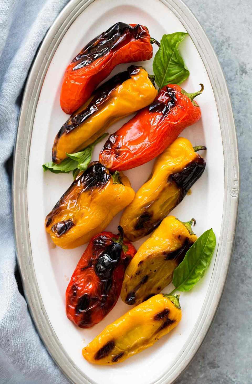 Mozzarella Stuffed Mini Peppers