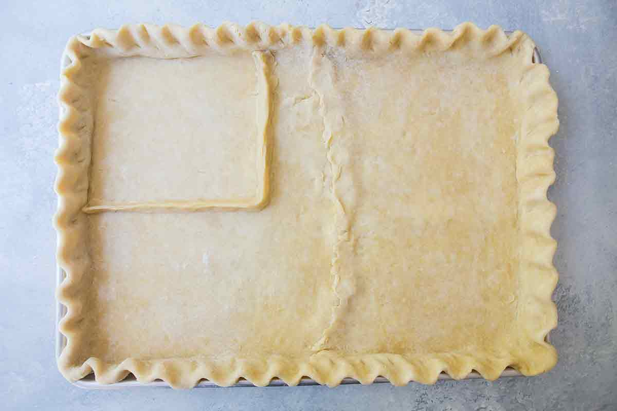 form well for the blueberry filling in american flag pie crust