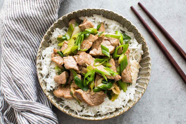Pork Stir Fry with Green Onion