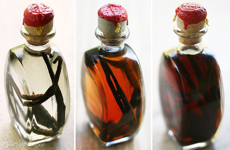 Stages of Making Vanilla Extract