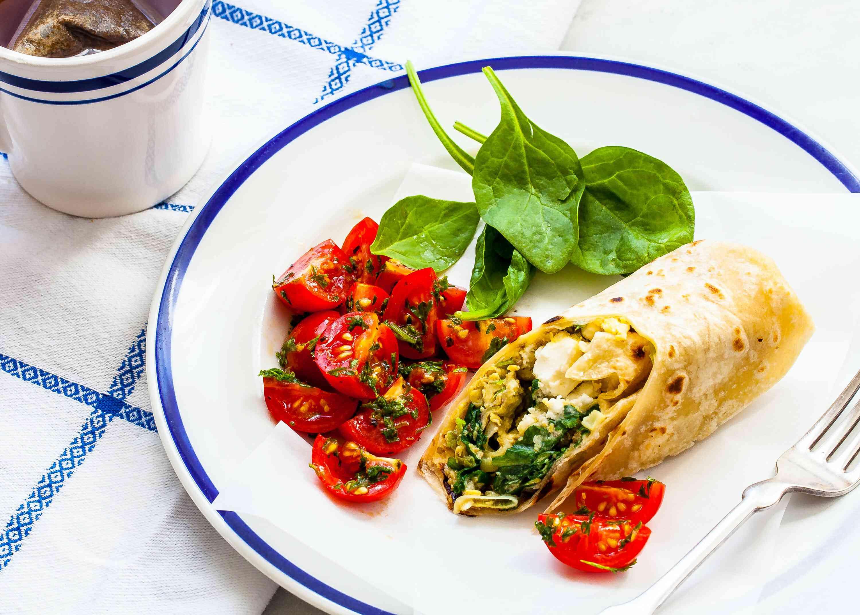 Spinach Feta Breakfast Wrap