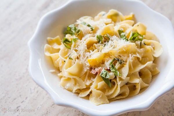 Zucchini with Pasta Carbonara