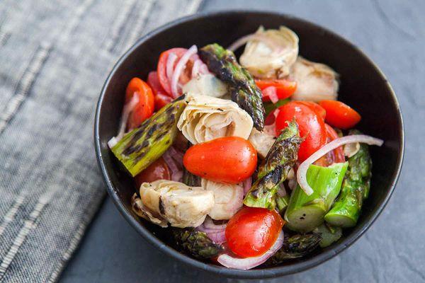 Asparagus Artichoke Salad