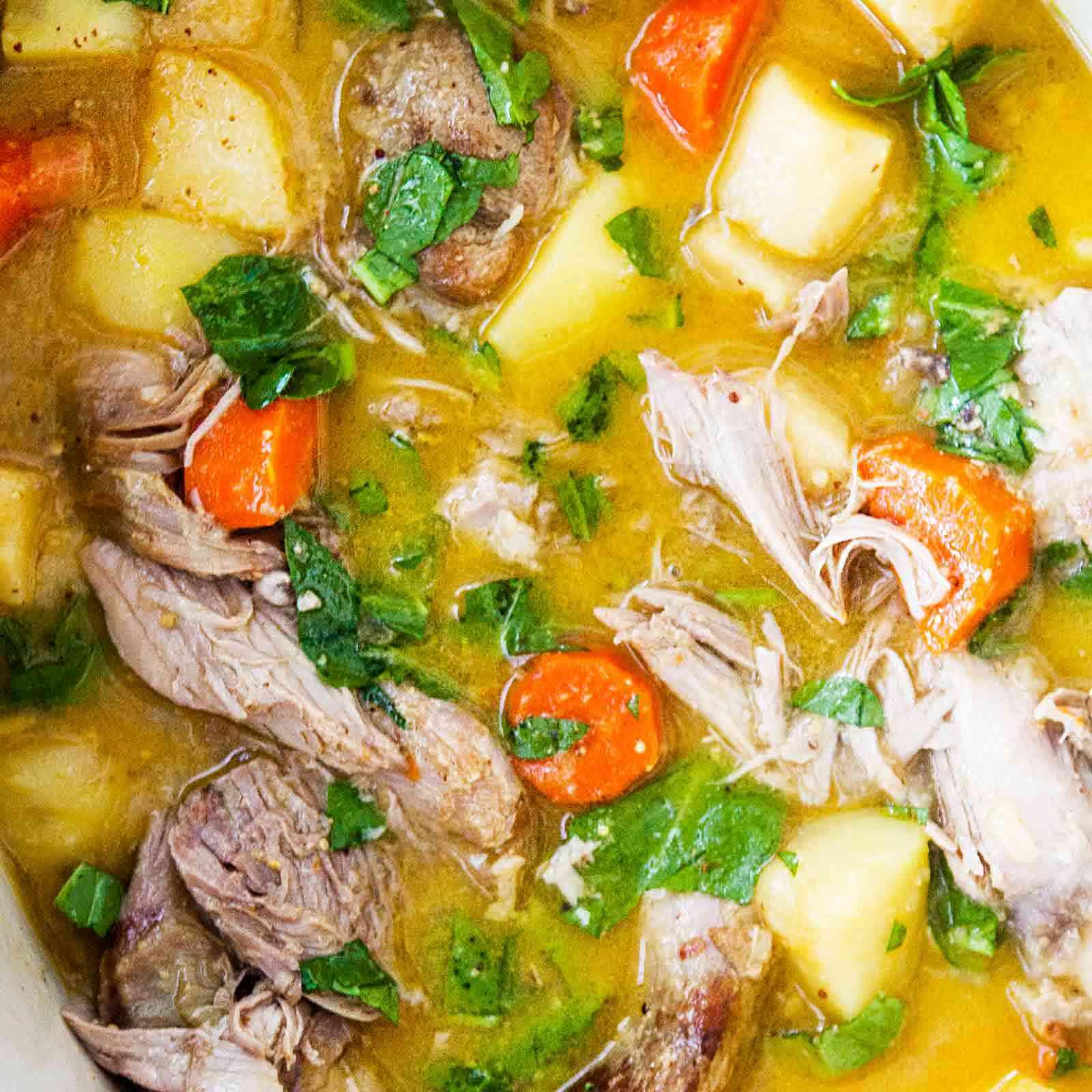 Slow Cooker Turkey Stew with Mustard