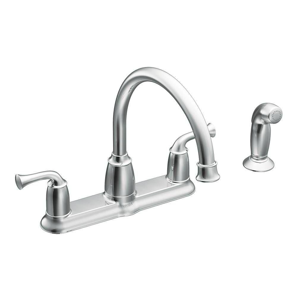 MOEN Banbury 2-Handle Mid-Arc Standard Kitchen Faucet