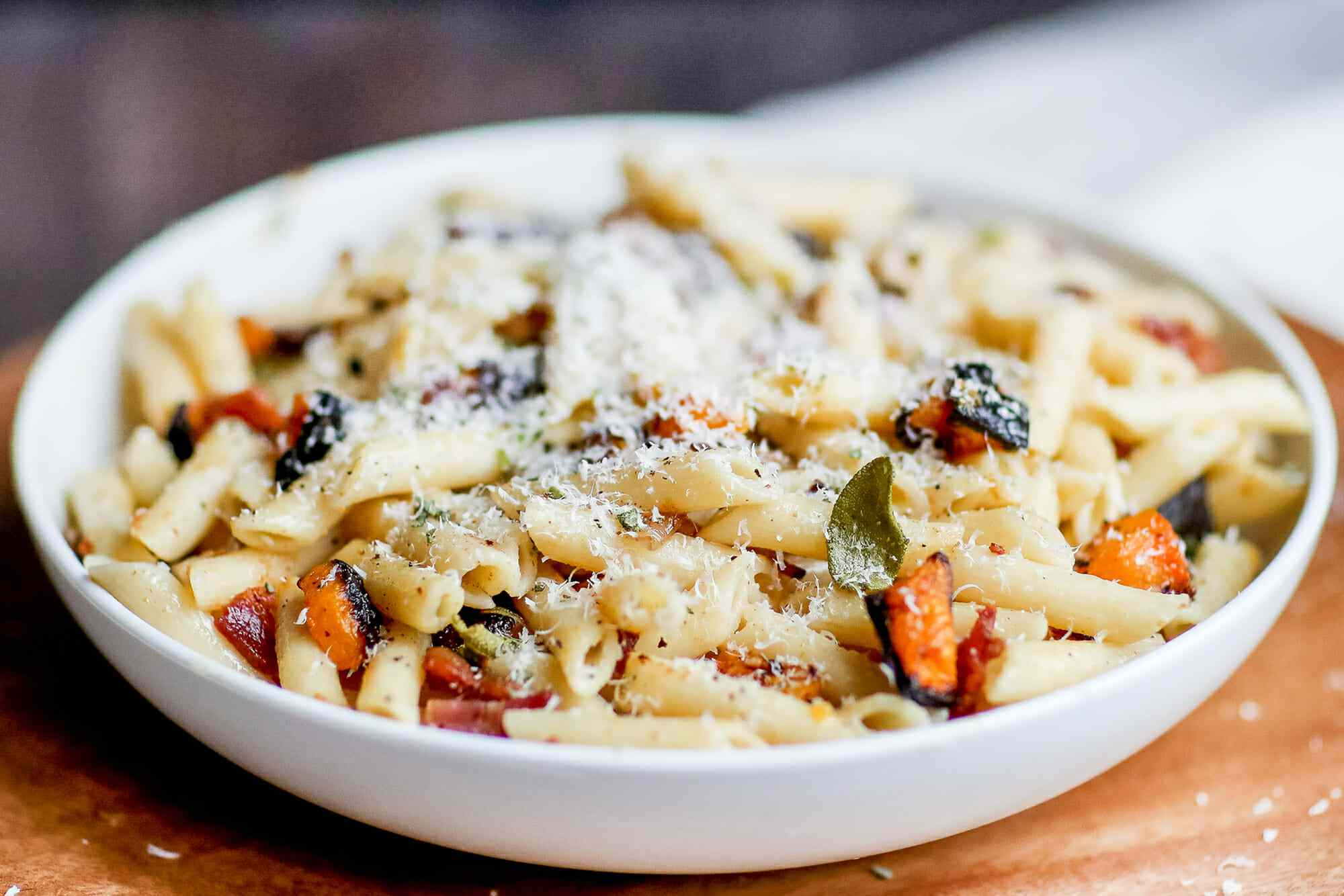 Pasta with Butternut Squash, Bacon, and Brown Butter