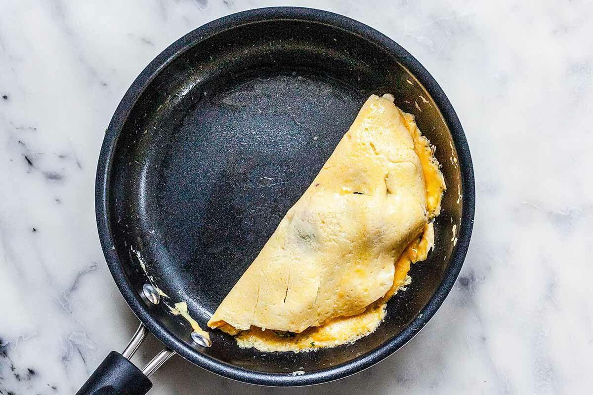Egg Omelet Recipe fold the omelet