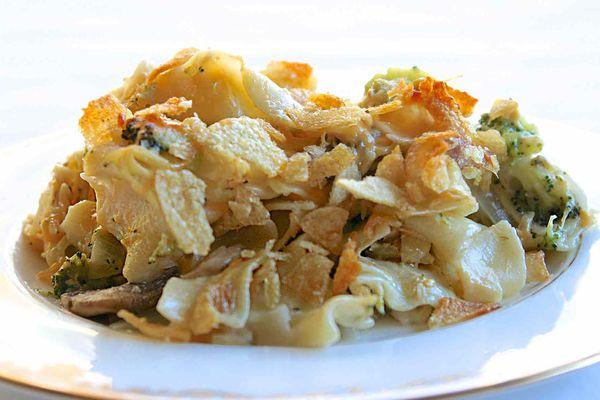 Tuna Casserole using cream of mushroom soup