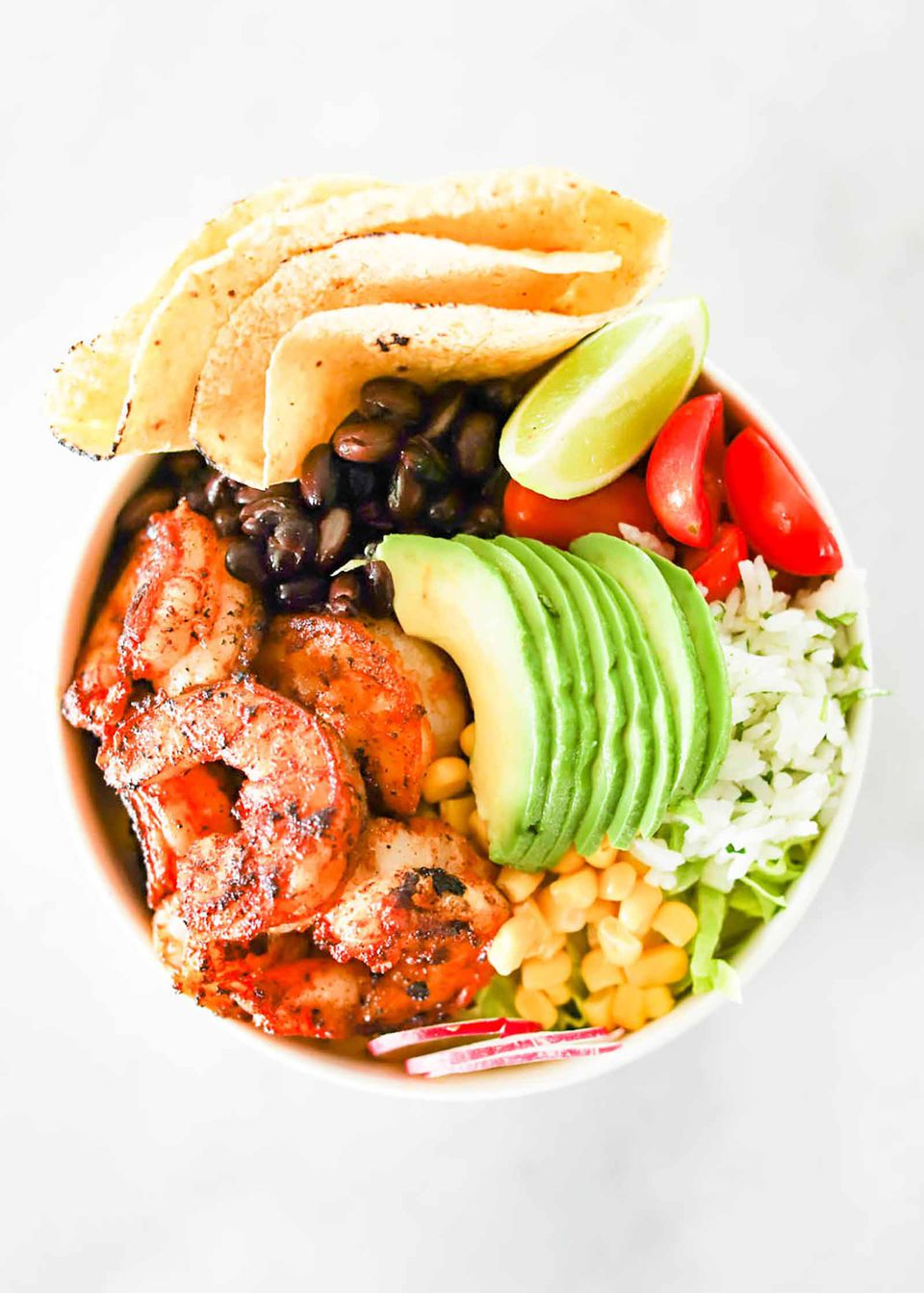 Taco Bowls with Grilled Shrimp Recipe