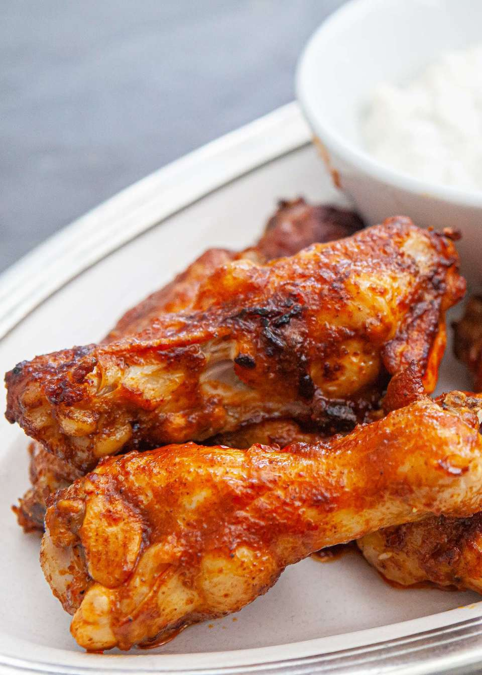 How to make hot wings with buffalo sauce recipe and blue cheese dressing.
