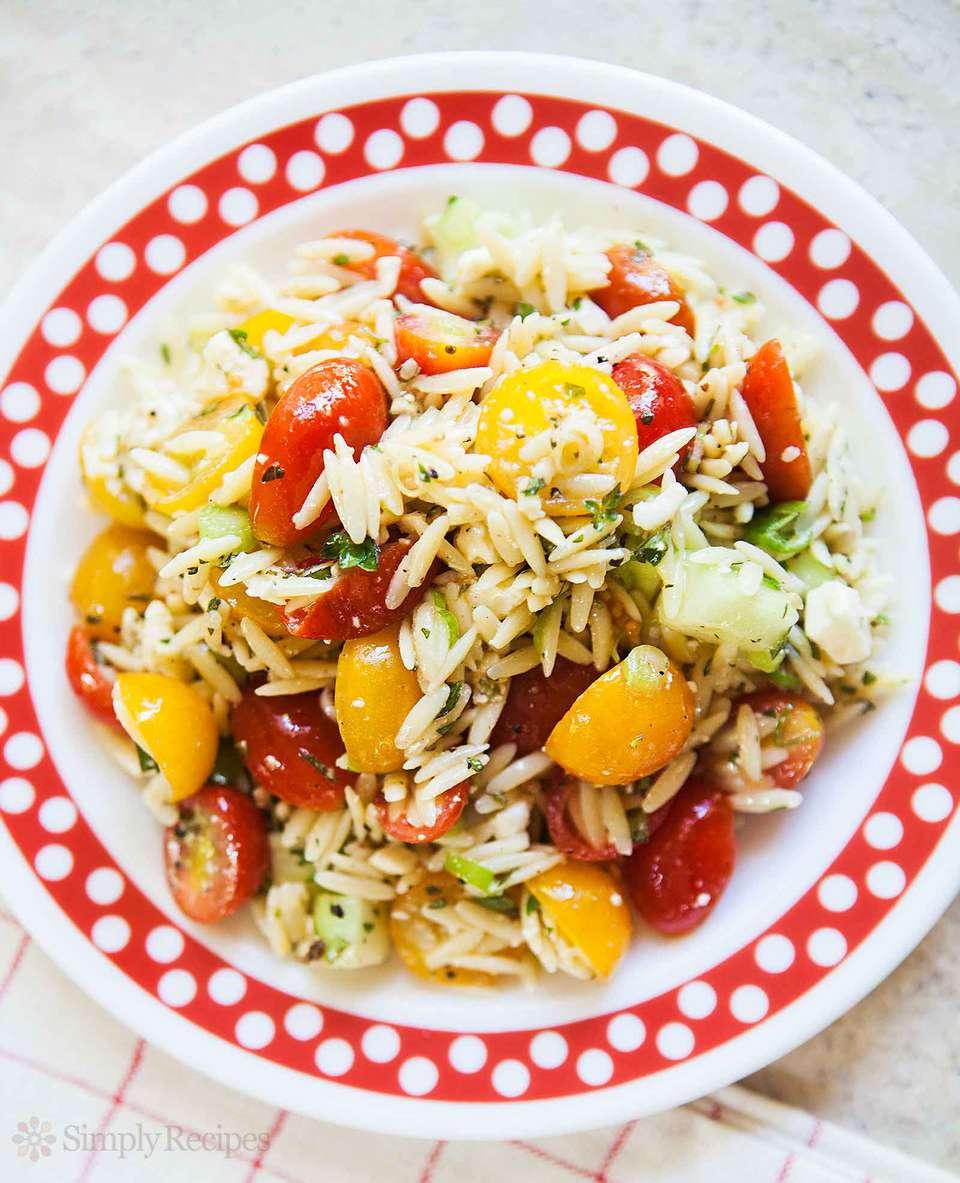 Cherry Tomato Orzo Salad